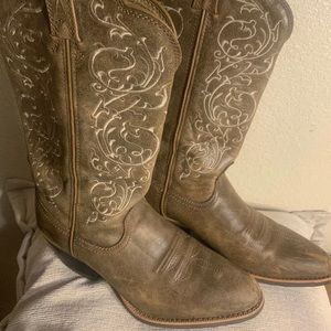 Ladies Twisted X leather brown boots 6 1/2B
